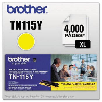 Brother TN-115Y Yellow, High Yield Toner Cartridge