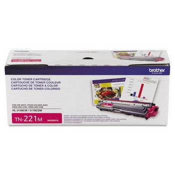 Brother BRT-TN221M Magenta, Standard Yield Toner Cartridge