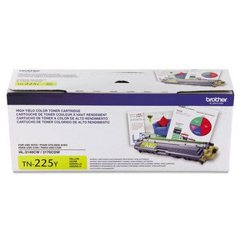 Brother BRT-TN225Y Yellow, High Yield Toner Cartridge