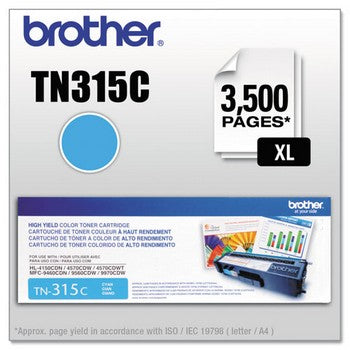 Brother TN-315C Cyan, High Yield Toner Cartridge