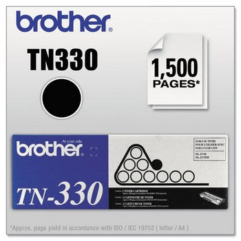 Brother TN-330 Black, Standard Yield Toner Cartridge