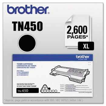 OEM/Original Brother TN-450 Toner Cartridge - High Yield, Black