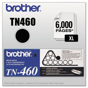 OEM/Original Brother TN-460 Toner Cartridge - Black, High Yield
