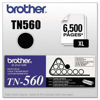 Brother TN-560 Black, High Yield Toner Cartridge