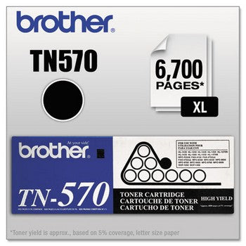 Brother TN-570 Black, High Yield Toner Cartridge