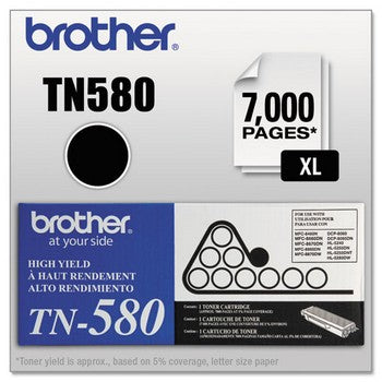 Brother TN-580 Black, High Yield Toner Cartridge