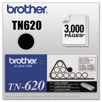 Brother TN-620 Black, Standard Yield Toner Cartridge