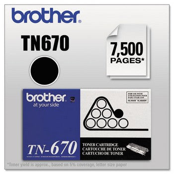 Brother TN-670 Black, High Yield Toner Cartridge