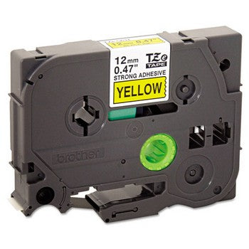 Brother TZE-S631 Labeling Tape, 1/2w, Black on Yellow
