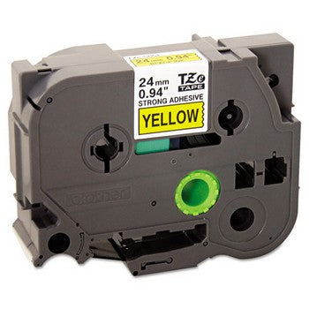 Brother TZE-S651 Labeling Tape, 1w, Black on Yellow