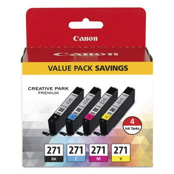 Canon CLI-271 Black/Cyan/Magenta/Yellow, Standard Yield Ink Cartridge, Canon 0390C005