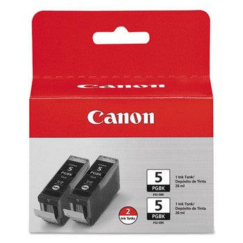 Canon PGI-5 Black, Twin Pack Ink Cartridge, Canon 0628B009
