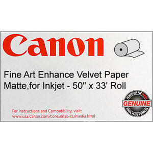 Canon 50in x 33ft Fine Art Enhanced Velvet Paper, 0826V681