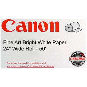 Canon 24in x 50ft Fine Art Bright Paper 330 gsm, Canon 0850V074