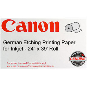Canon 24in x 39ft Fine Art German Etching Paper, Canon 0850V752