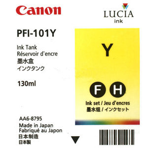 Canon PFI-101Y Yellow Ink Cartridge, Canon 0886B001AA