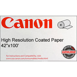 Canon 42in x 100ft High Resolution Coated Bond Paper, Canon 1099V651