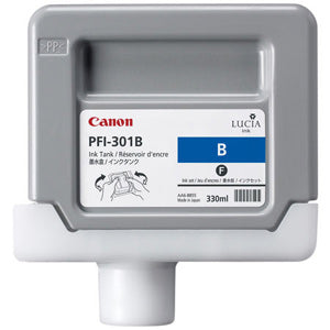 Canon PFI-301B Pigmented Blue, Standard Yield Ink Cartridge, Canon 1494B001AA