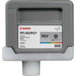 Canon PFI-302PGY Pigmented Photo Gray, Standard Yield Ink Cartridge, Canon 2218B001AA