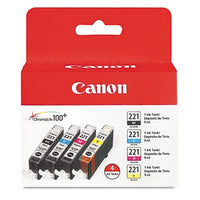 Canon CLI-221 Color, Value Pack Ink Cartridge, Canon 2946B004