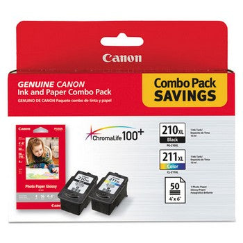 Canon PG-210XL / CL-211XL Ink and Paper Ink Cartridge, Canon 2973B004