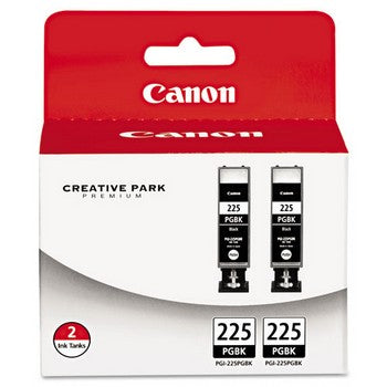 Canon PGI-225 Black, 2/Pack, 38 ml Ink Tank, Canon 4530B007AA