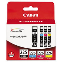 Canon PGI-225/CLI-226 Color, 4/Pack Ink Tank, Canon 4530B008AA