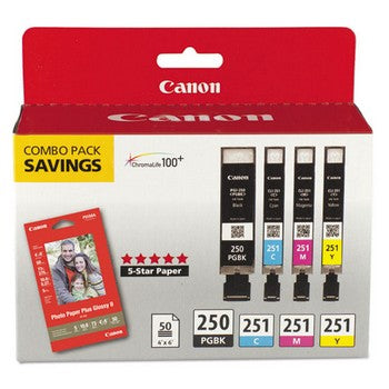 Canon 6497B004 Ink & Paper Combo Pack Ink Cartridge