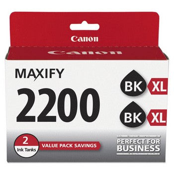 Canon PGI-2200XL Black, High Yield, 2/Pk Ink Cartridge, Canon 9255B006