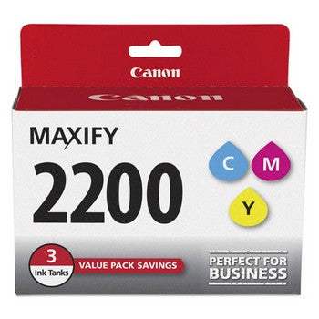 Canon PGI 2200 Cyan, Magenta, Yellow, Standard Yield Ink Cartridge, Canon 9304B005
