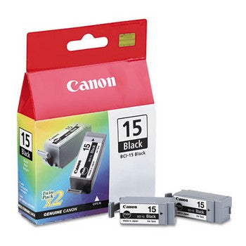 Canon BCI-15 Black, Twin Pack Ink Cartridge