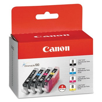 Canon CLI 8 4-Color, Multi Pack Ink Cartridge