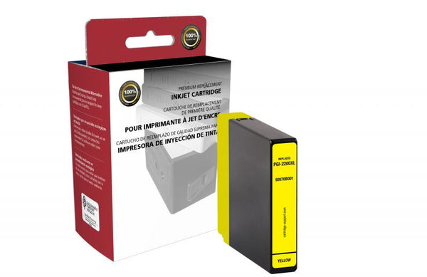 CIG Non-OEM New High Yield Yellow Ink Cartridge for Canon PGI-2200XL