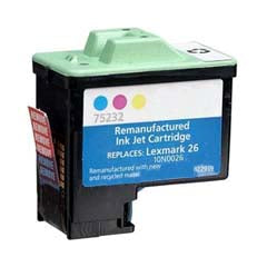 Compatible Lexmark 26 Color (Made In USA) Ink Cartridge, Lexmark 10N0026U