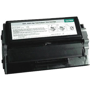 Compatible/Remanufactured Lexmark 12A7405 Toner Cartridge - Black