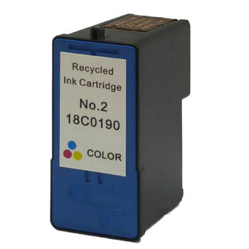 Generic Brand (Lexmark 2) Remanufactured Tri-Color, Standard Yield Ink Cartridge, Generic 18C0190