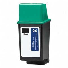 Remanufactured/Generic HP 26 (HP 51626A) Ink Cartridge - Black