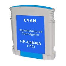 Generic Brand (HP 11) Remanufactured Cyan (Made In USA) Ink Cartridge