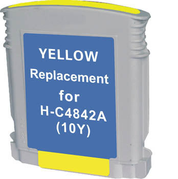 Generic Brand (HP 10) Remanufactured Yellow, High Yield Ink Cartridge, Generic C4842A