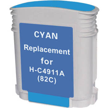 Generic Brand (HP 82) Remanufactured Cyan, High Yield Ink Cartridge, Generic C4911A