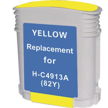 Generic Brand (HP 82) Remanufactured Yellow, High Yield Ink Cartridge, Generic C4913A
