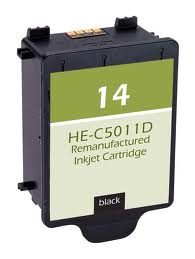 Generic Brand (HP 14) Remanufactured Black (Made In USA) Ink Cartridge