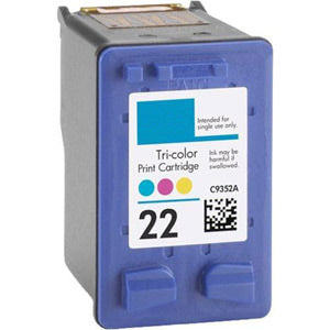 Remanufactured/Generic HP 22 (HP C9352AN) Tri-Color Ink Cartridge