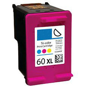 Generic Brand (HP 60XL) Remanufactured Color, High Capacity Ink Cartridge