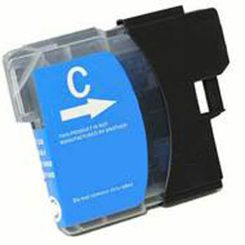 Generic Brand (Brother LC61C) Remanufactured Cyan, Standard Yield Ink Cartridge, Generic LC61C