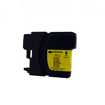 Generic Brand (Brother LC65Y) Remanufactured Yellow, High Yield Ink Cartridge, Generic LC65Y