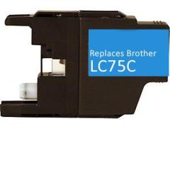 Compatible Brother LC75C Cyan Ink Cartridge