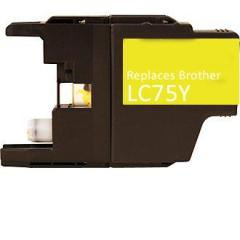 Compatible Brother LC75Y Yellow Ink Cartridge