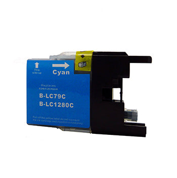 Generic Brand (Brother LC79C) Remanufactured Cyan, Extra High Yield Ink Cartridge, Generic LC79C