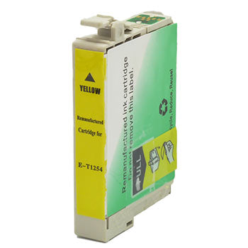 Remanufactured/Generic Epson 125 (Epson T125420) Ink Cartridge, Yellow